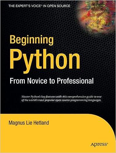 Beginning Python: From Novice to Professional (Beginning