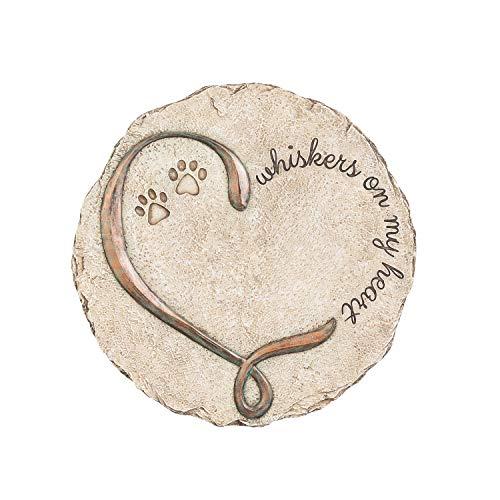 New Creative Commemorative, Indoor/Outdoor, Whiskers on My Heart Memorial Garden Stone