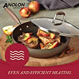 Anolon Advanced Hard-Anodized Nonstick Frying Pan / Nonstick Skillet, 8 Inch, Bronze