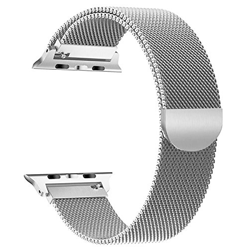 (Milanese Loop For Apple Watch 42mm , Smooth Stainless Steel Band Freely Fully Magnetic Closure Clasp Metal Strap Replacement Bracelet for IWatch Series 3/2/1 Nike+ Sport and Edition)