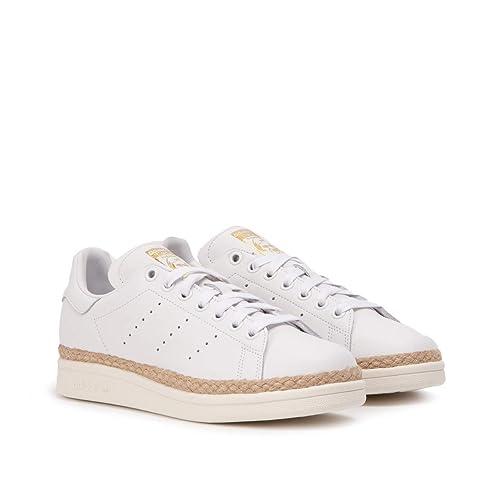 online store 7e155 cfb63 Adidas Stan Smith New Bold W, Zapatillas de Deporte para Mujer, Blanco  Ftwbla Casbla 000, 37 1 3 EU  Amazon.es  Zapatos y complementos