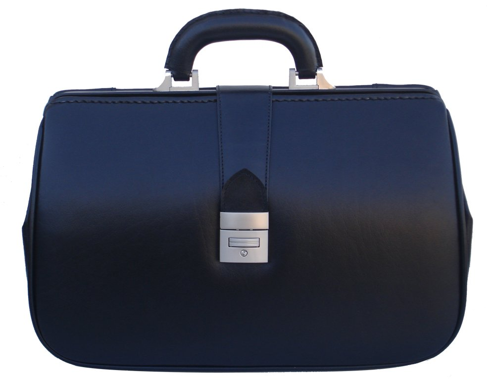 RA Bock Fine Leather Doctor Bag - Small (Black)