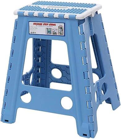 MHSHKS Taburete Plegable de plástico antidesprendimiento Multiusos, fácil de almacenar, pequeña casa, Escalera de Cocina, Altura 44 cm, Azul, 44cm (H): Amazon.es: Hogar