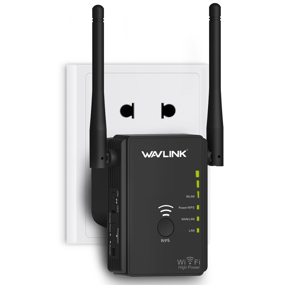 High Power 300Mbps WiFi Range Extender, WAVLINK High Power N300 Wireless WiFi Repeater Signal Booster/Access Point/Router 2 Ethernet Port/External Antenna by WAVLINK (Image #1)
