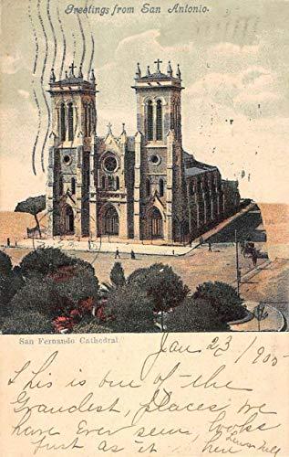 San Antonio Texas San Fernando Cathedral Birdseye View Antique Postcard K104441 (Cathedral De San Fernando San Antonio Texas)
