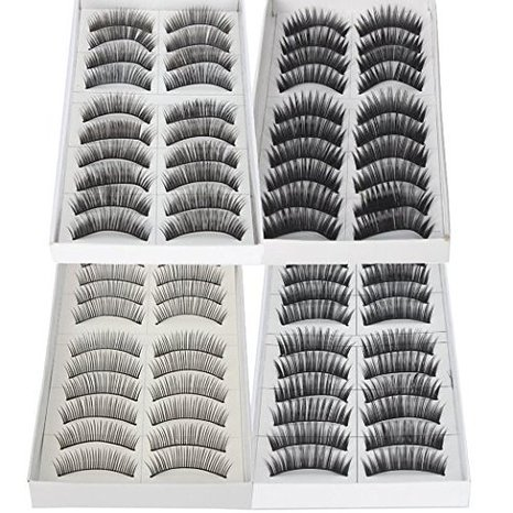 So Beauty Black Long & Thick Reusable False Eyelashes Fake Eye Lash for Makeup