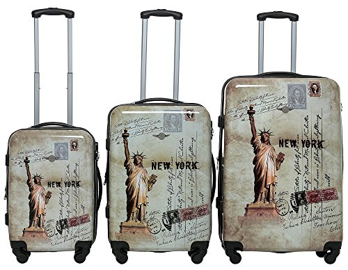Rivolite PC 3 Piece Luggage Set: 20'' 24'' 28'' Portable Suitcase Lightweight Unique Design Carry On Luggage by Rivolite