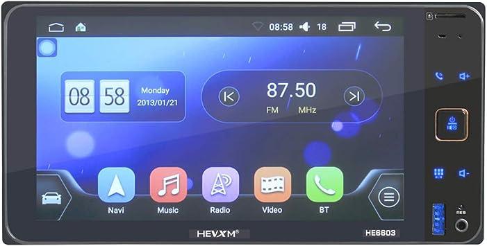 SMMAT Doble DIN Car Player, para Toyota 7 Pulgadas HD Pantalla táctil Coche Mp5 Reproductor/TV Navegación GPS WiFi Integrado Bluetooth Manos Libres Radio Ecualizador Efecto,B: Amazon.es: Electrónica