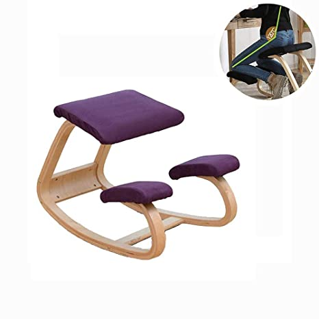 Amazon.com: Silla de equilibrio ergonómica con respaldo ...