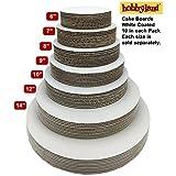 "Hobbyland Cake Boards White (8"" Round, 10 Pack)"