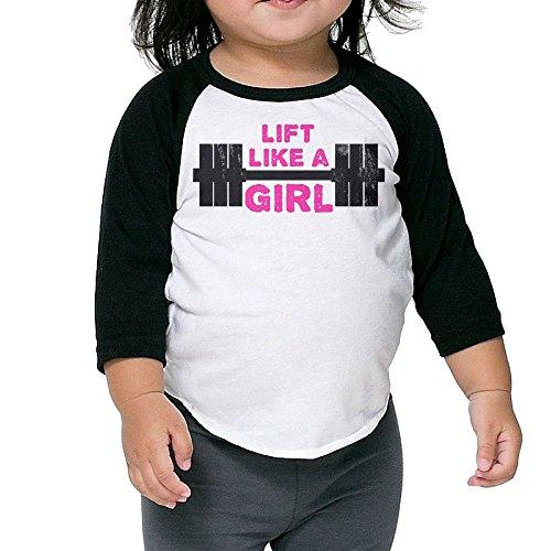 Girl Kids Round Collar T-shirt Size4 Toddler ()