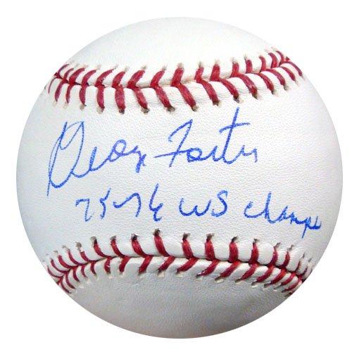 GEORGE FOSTER AUTOGRAPHED OFFICIAL MLB BASEBALL CINCINNATI REDS