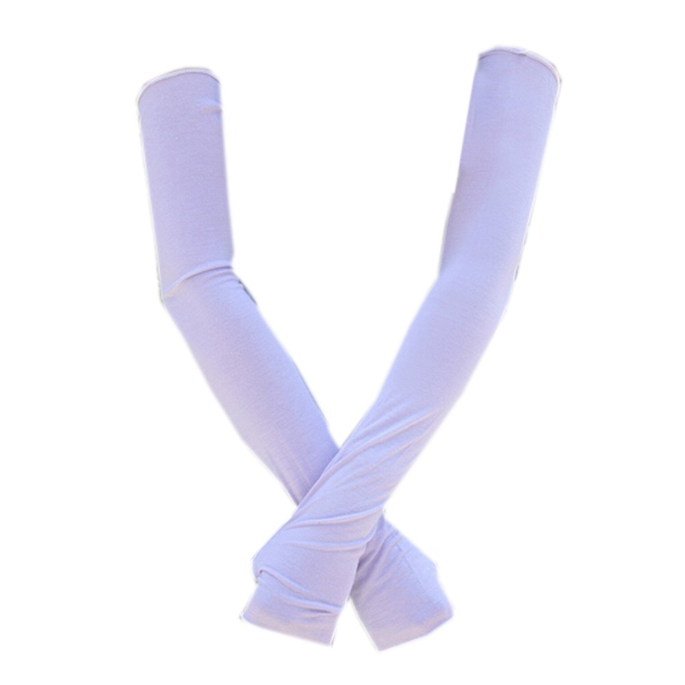 Kylin Express Summer Sun//UV Protection Cycling Armwarmer Arm Sleeve for Women Light Purple