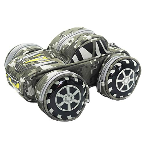 Creative Pencil Holder Tank Pen Holder Off-Road Car Style Camouflage Pencil Bag Pen Storage Organizer Office School Supplies Stationery Boy Gift