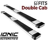 Ionic 51 Series Brite Running Boards 2014-2018 Chevy Silverado GMC Sierra Double Cab 1500 Gas Engine (No Mud Flaps)