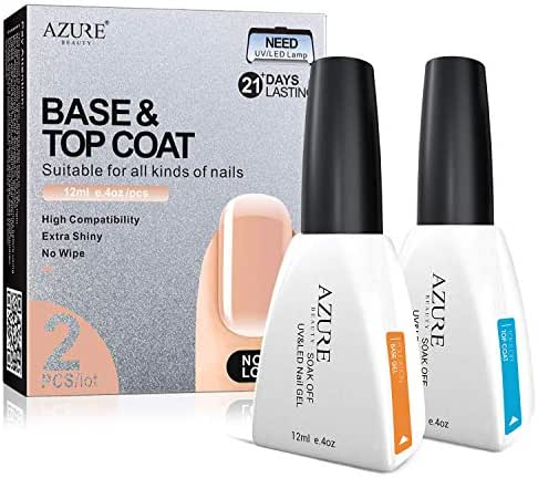 Nail Polish: Azure Base & Top Coat