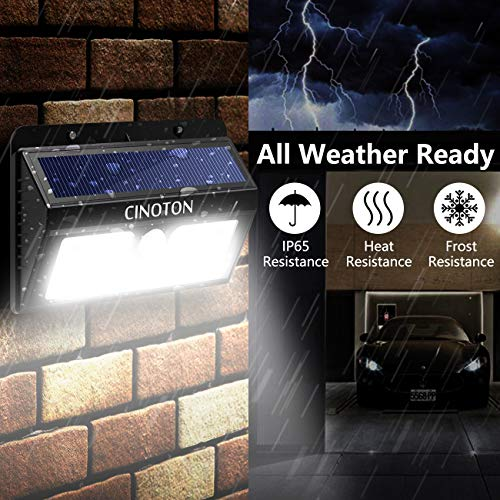 CINOTON Outdoor Solar Wall Lights Ultra Bright 20 LED Security Lighting Motion Sensor Dusk-to-Dawn Photocell Wireless Waterproof for Garden,Yard,Patio, Driveway,Stairs. 20 LED, 2 Pack