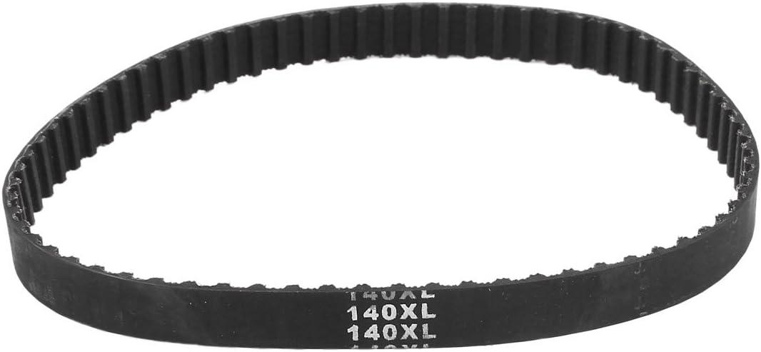 Sourcingmap - 140xl 14 pulgadas circunferencia de 70t de caucho negro máquina sincronizada correa de distribución
