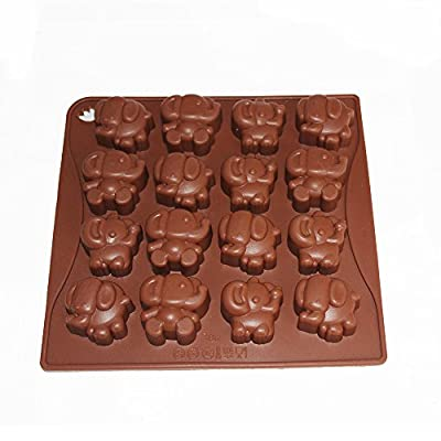 X-Haibei Cute Elephant Dumbo Chocolate Candy Soap Jello Silicone Mold