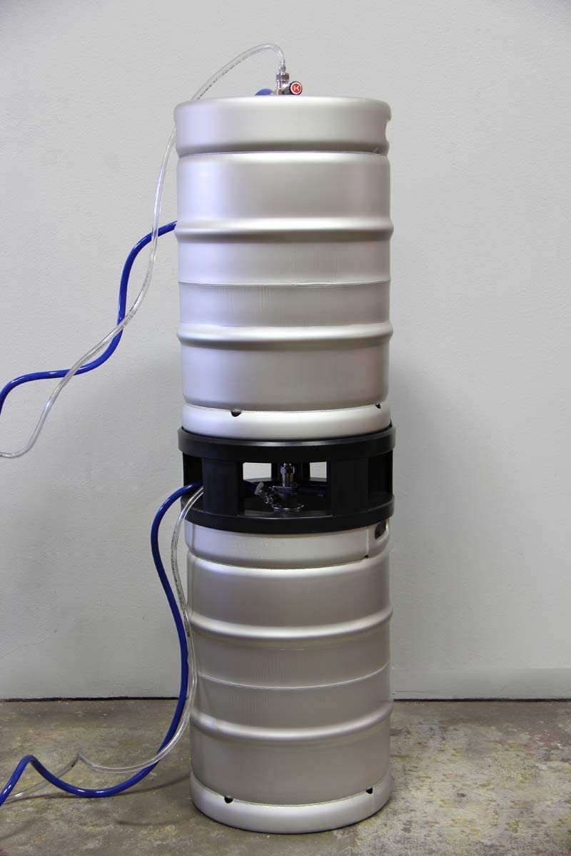 Half-Barrel Keg Spacer - Safely Stack Half-Barrel Kegs and Tap Both the Top Keg and Bottom Keg - Double the Floor Space of Your Walk-In Cooler