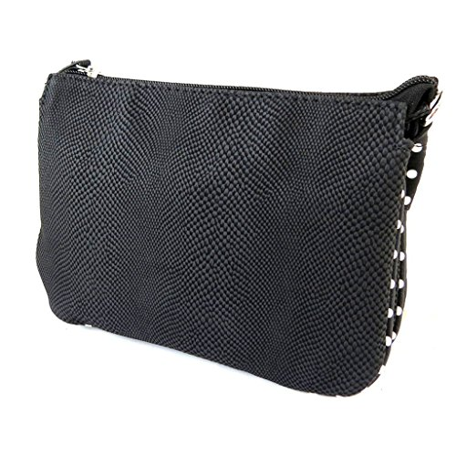 Bolsa de diseñador 'Lollipops'guisantes negros (3 compartimentos)- 22x16x13 cm.