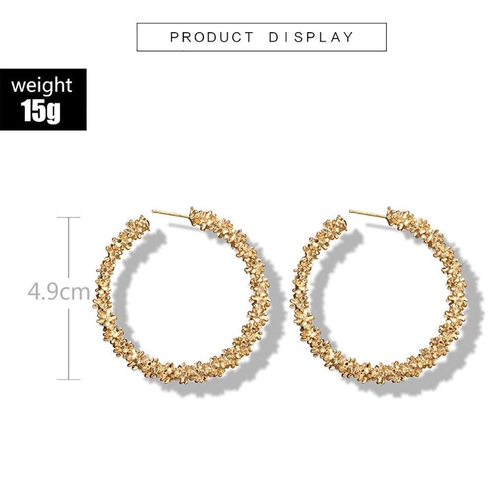 Meisiqw Circle Earrings Open Hoop Drop Earring Spiny Fashion Jewelry For Girls