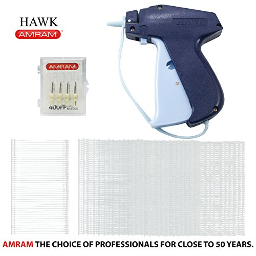 Needles Fine Fabric - Amram Hawk Tagging Gun Kit 1250 2 Inch Attachments 5 Needles for Fine Clothing Tagging Applications Easy to Load Easy to Use