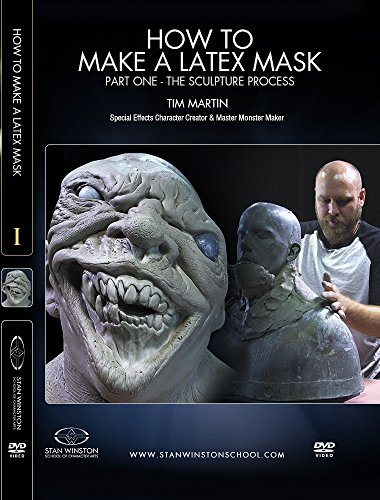 How to Make a Latex Rubber Mask Part 1 - The Sculpture - Mask 1 Part