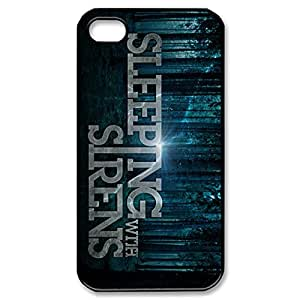 Elegant Design TPU Case Back Cover Case Sleeping With Sirens for iphone 4 4s 4G -Black052808 by supermalls