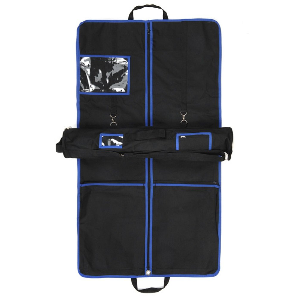 Kilt Outfit Garment Bag Set with Suit Carrier /& Kilt Roll Blue Trim