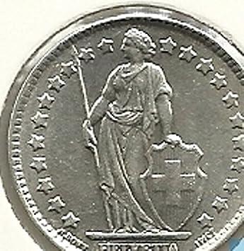 Tgbch Schweiz 1 Franco Schweizer Franken Münzen Franken 1980 Amazon