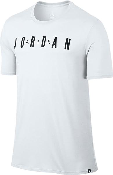 świetna jakość wspaniały wygląd konkretna oferta Amazon.com: Jordan Iconic Air Jordan T-Shirt (L, White/Black ...