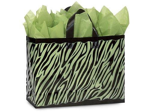 VOGUE Zebra Frosted Plastic BagsBULK 3 mil HD Plastic 16 x 6 x 12 1 unit, 250 pack per unit. by Nas