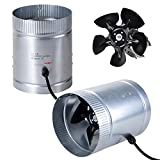 CHIMAERA Hydroponic Indoor Garden 6'' 260 CFM Inline Duct Booster Vent Fan with Aluminum Blade