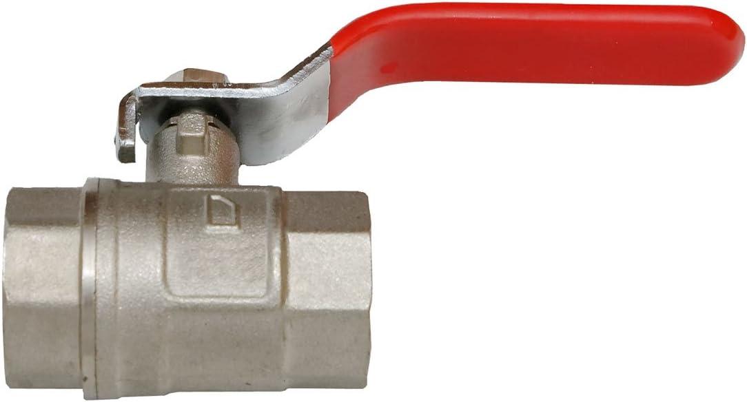 Quarzflex/® Messing Kugelhahn 1//2 IG//AG mit vollem Durchgang