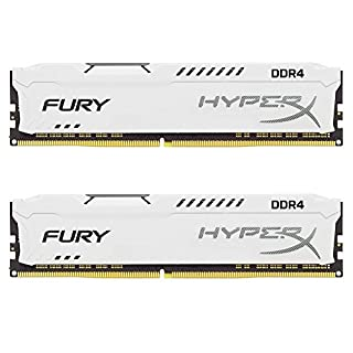 Kingston Technology HyperX Fury White 16GB 2666MHz DDR4 CL16 DIMM Kit of 2 1Rx8 (HX426C16FW2K2/16) (B06XNT2M23) | Amazon price tracker / tracking, Amazon price history charts, Amazon price watches, Amazon price drop alerts