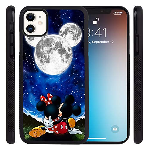 DISNEY COLLECTION Phone Case for iPhone 11 (6.1 Inch) Mickey Dates with Minnie Tire Skid Shock Proof Slim Light Rubber Bumper Cartoon Cute Protective Cover