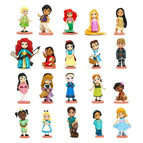Ensemble de 20 figurines de luxe, collection Disney Animators, Disney officiel AU
