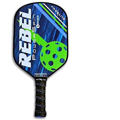 Pro-Lite Rebel PowerSpin Composite Pickleball Paddle (Bowie Blue / Jagger - Sporting Rebel Goods