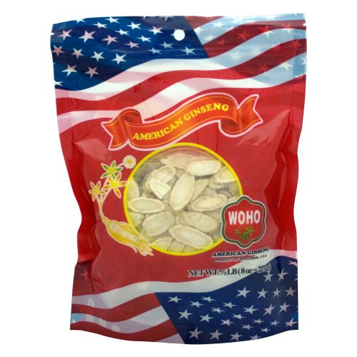 WOHO Wisconsin Ginseng Medium Slice Bag 8oz, Health Care Stuffs