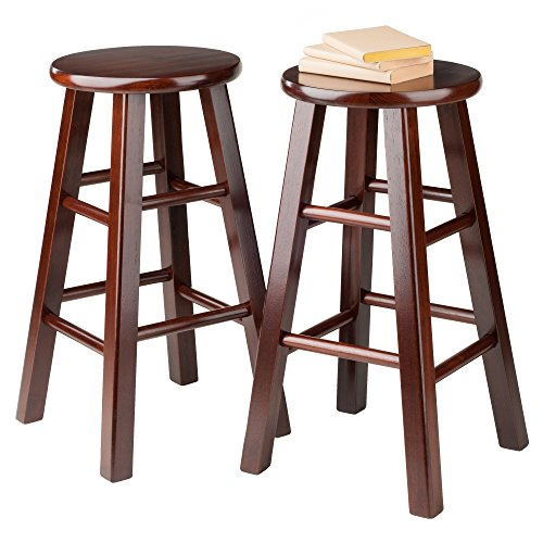 Winsome 24 Inch Square Leg Counter Stool Set Of 2 Jongo