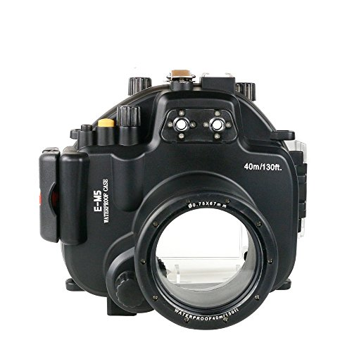 Polaroid SLR Dive Rated Waterproof Underwater Housing Case For The Olympus EM5 Camera with a 12-50mm Lens by Polaroid