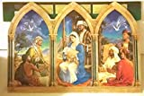 Unique Extra Large Christmas Advent Calendar with Classic Nativity Scene. 15'' x 11 ''. Quality Stock, Imported. {jg} Great for mom, dad, sister, brother, friend, grandmother, grandfather, cousin.