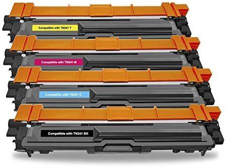 BeOne® Compatible para Brother TN241 TN245 (4 Paquetes), Utilizado ...