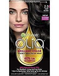 Garnier Olia Hair Color, 2.0 Soft Black, Ammonia Free...