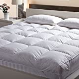 AVI Premium Quality Queen Size Bed Finest Microfiber Mattress Padding/Topper for 5 Star Hotel Feel- 60 Inch x 78 Inch - White