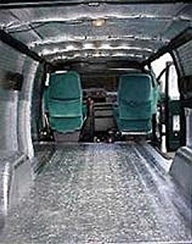 Car Insulation 64 Sqft - Thermal Sound Deadener - Block Automotive Heat & Sound Made in USA / Closed Cell Foam Core / #1 Selling Brand by AES (Image #3)