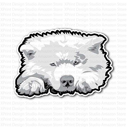 - White Chow Chow Dog Puppy Sticker