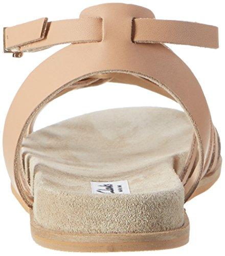Clarks Agean Art, Sandalias con Cuña para Mujer Beige (Nude Leather)