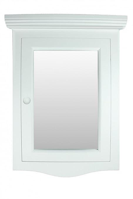Renovatoru0027s Supply Corner Medicine Cabinet White Hardwood Wall Mount  Recessed Mirror Easy Clean
